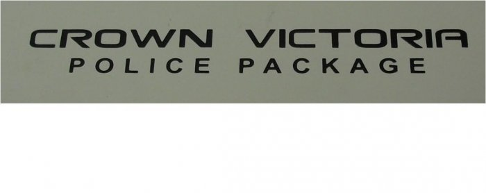 Crown victoria Police pacage Decal