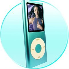 1.8-inch Screen New Style Stainless Metal Shell MP4 Player 4GB - Blue