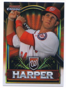 2011 Bowman Chrome Bryce Harper Red Refractor #BCE1