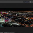 Digital Photo Panorama Night Las Vegas for print