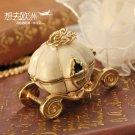 pumpkin carriage locket necklace