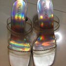 silver prom shoes