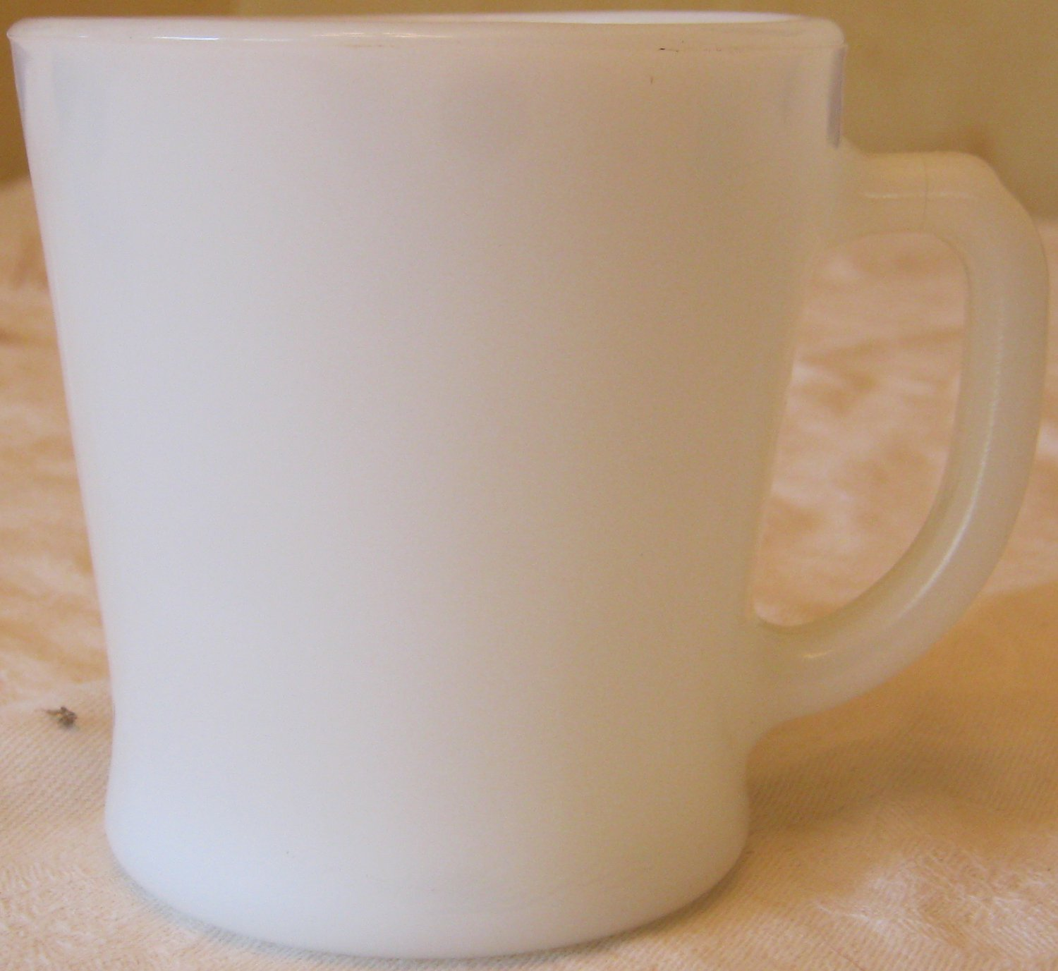 Vintage White FireKing D Handle Coffee Cup