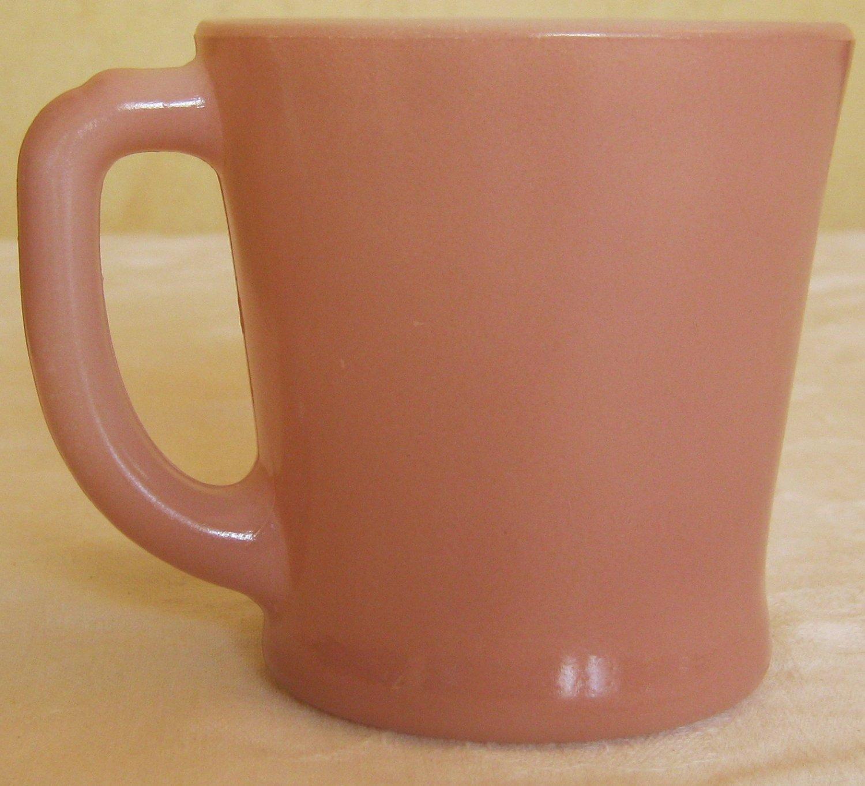 Vintage FireKing Mauve D Handle Coffee Cup