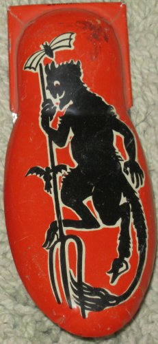 Vintage Kirchhof Metal Halloween Devil Pitchfork Clicker/Cricket