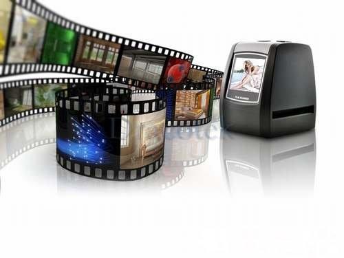 """5MP Digital Film Scanner Converter 35mm USB LCD Slide Film Negative Photo Scanner 2.36"""" TFT scanner"""
