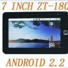 7 inch ZT-180 Dual core 1GMHZ tablet pc 512M 4G android 2.2 camera HDMI