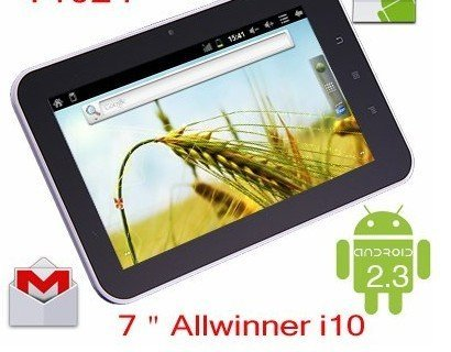 """7"""" Allwinner A10 Android 2.3 Ultra Thin Tablet Pc 1.2ghz 512mb 4gb 5 Point Capacitive Touch"""