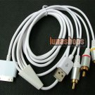 USB to TV 3 AV RCA Audio Video Male to Male Cable for Iphone 3G