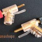2pcs Pailiccs Pailic 008 Dia. 8mm gun shape Speaker audio Male Plug Adapter