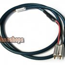 1 RCA AV Male To 2 Female Y Splitter Video LC-OFC Copper Hifi Cable Adapter