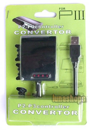 USB 4 in 1 PS2 to PS3 PC Controller Adapter Converter Box