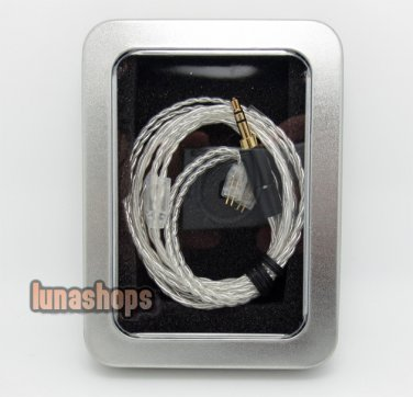 1.2m  Handmade Silver Cable For Ultimate Ears UE TF10 SF3 SF5 5EB 5pro Earphone