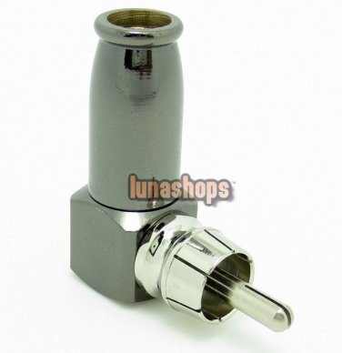 RCA Right Angle Male Adapter 90 degree L Shape Diy Adapter