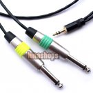 Yongsheng 3.5mm stereo Male to 2 6.5mm male mono Y splitter OCC Copper Cable