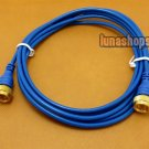 F port Male to Male Cable Adapter 1.8m Long Blue
