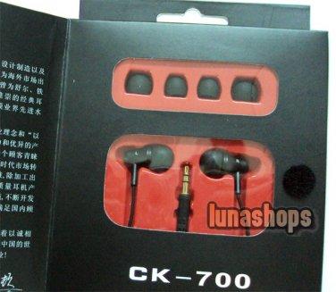 XKDUN CK-700 In-ear Stereo Metal Housing Earphone For 3dsll psv console phablet