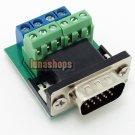 Solderless Welding Free VGA Male Module With ID-Bit plug DIY 2*3+4pin Adapter