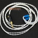Silver Plated 3.5mm Cable For Shure Se425 se535 se846 ue900 earphone headset