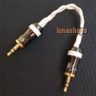 C8 Hifi 3.5mm Pailiccs Male To Male Audio Belt Silver Cable Adapter For Amplifie