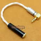 C8 3.5mm L silver plate 90 Degree Male To Female Earphone Port Protector Adapter