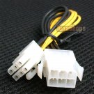 C8 6pin Male to 6 Pin Female Power Adapter Cable For Nvidia Gtx580 etc.