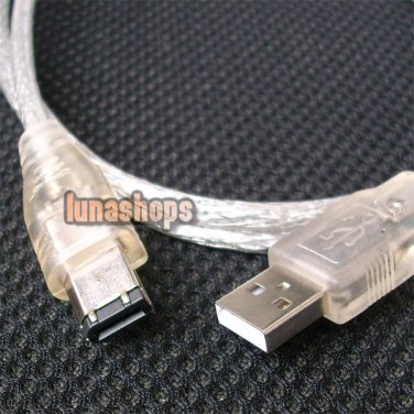 C0 1.2M USB MALE TO IEEE 1394 6 PIN FIREWIRE TRAVEL CABLE NOT Support Data Trans