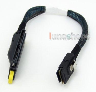 C0 30cm Shield SFF-8484 SAS 32pin Host to Mini SAS 4i SFF-8087 Target raid cable