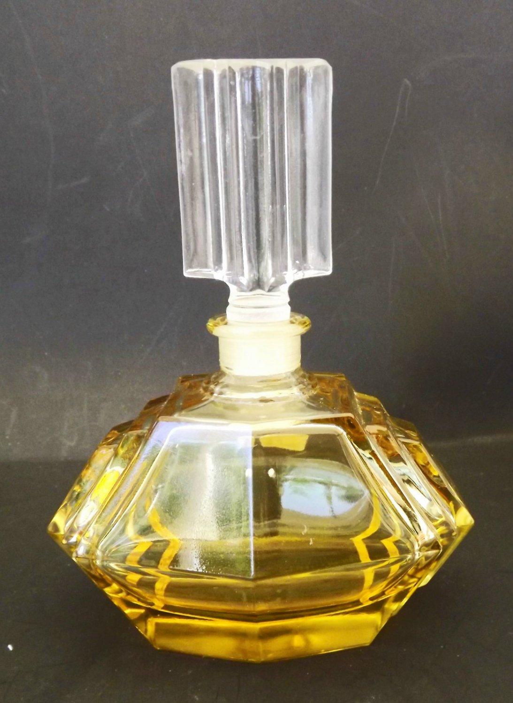 Vintage Perfume Bottle - Designer - Taunu Crystal - Leaded Crystal - Germany