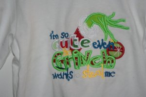 Grinch Embroidered shirt