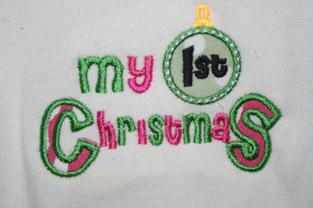 Baby's First Christmas embroidered shirt