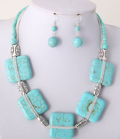Bold Turqouise Necklace Set