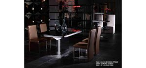 Armani Black High Gloss Dining Table