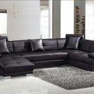Black Ultra modern sectional sofa