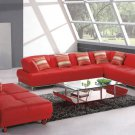 Contemporary Red Sectional Sofa