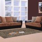 Dual tone color of brown and black Berlin Sofa Set
