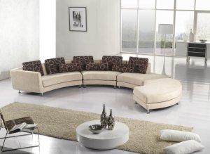 Fabric Beige Sectional Sofa