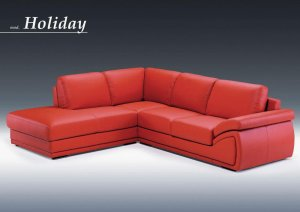 Holiday Red Sectional Sofa set