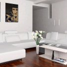 Madrid Modern White Leather Sectional