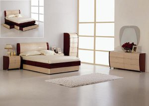 Maya Modern Lacquer bed