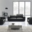 Modern Black Leather Sofa Set