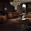 Modern Brown leather living room furniture
