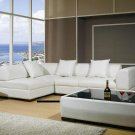 Modern Leather Sectional Sofa Set