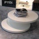 Modern Round White Celia Coffee Table