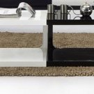 Modern White and Black Lacquer Coffee Table
