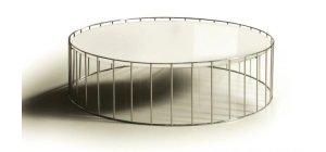 White Round Solaris Coffee Table