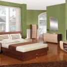 Liza Modern Lacquer Platform Bed Group