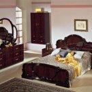 Complete Set: Serena Mahogany Traditional Italian Bed