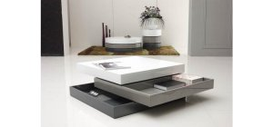 Trio-2 - Lacquer 3 Tone Square Coffee Table