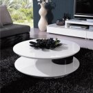 5019 - Modern White and Black Coffee Table